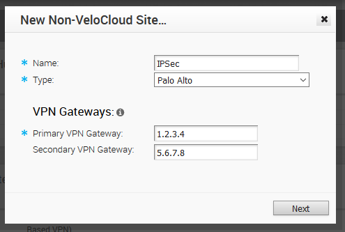 Configuration Guide: IPSec VPN between BranchConnect and